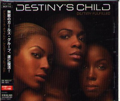 K - DESTINY'S CHILD - Destiny Fulfilled - 日版 +3BONUS+OBI