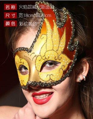 【洋洋小品舞會面具威尼斯面具高檔手工彩繪面具半罩B1】Cosplay聖誕節表演派對扮演服裝道具萬聖節服裝表演服化妝