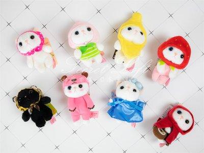 【秘密閣樓】日本choo choo cat甜蜜貓 娃娃 吊飾 掛飾 鑰匙圈 日本代購