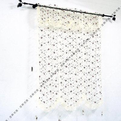 溫飾效應-『F108』莉緻蕾絲刺繡DIY窗簾..一件599元 似法式簾 上下開