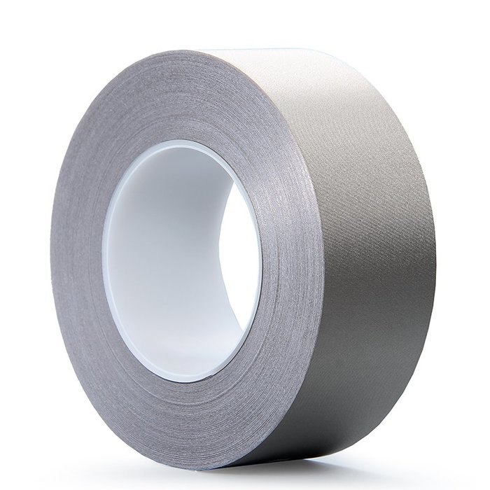 小花精品店-抗干擾屏蔽隔離電磁波導電膠帶銀灰色平紋單面雙面導電布膠布帶(尺寸不同價格不同)