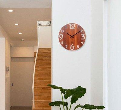 《過來福》多款式北歐風木頭鐘壁鐘掛鐘木質時鐘靜音掃描指針靜音機芯時尚現代簡約客廳臥室擺飾