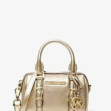 Michael Kors Bedford Legacy Extra-Small Metallic Leather Duffle Crossbody Bag