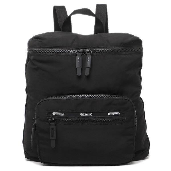 現貨 Lesportsac 經典黑 Portable Backpack 後背雙肩包 未來系列 超輕量防水 2518 限量