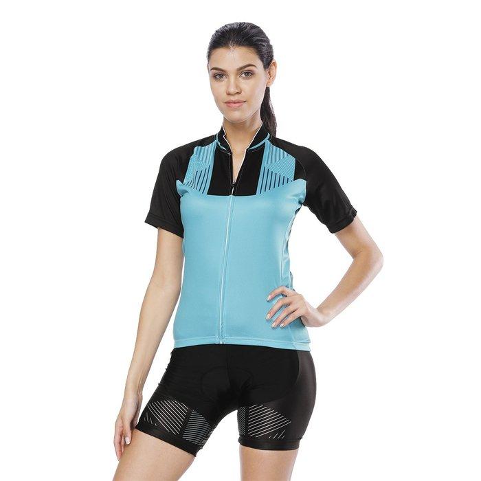 【Paladin】女款短袖車衣褲套裝 :: 點藍