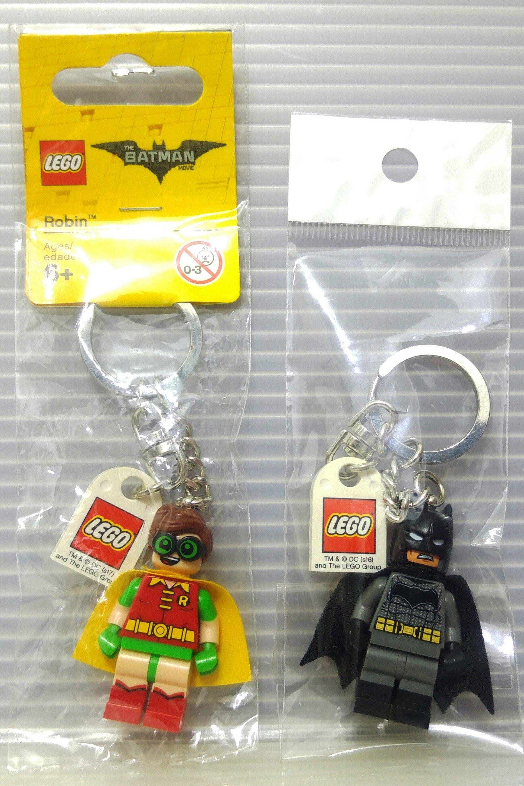 龍廬-自藏出清~鑰匙圈-LEGO樂高積木-DC超級英雄系列積木公仔鑰匙圈-黑暗騎士蝙蝠俠&羅賓二款一起賣不拆售