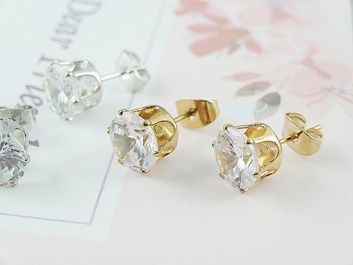 【N&Y】時尚韓版鋯石水鑽耳釘耳環耳針☆EB79共2款2色