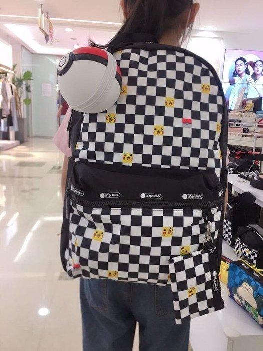 ♥ 小花日韓雜貨 ♥ --Lesportsac 後背包大包書包出遊逛街包 3426 皮卡丘 PIKACHU