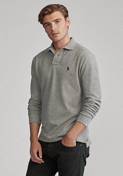 Ralph Lauren 小馬 長袖 POLO 衫 現貨 小馬 青年款 灰色