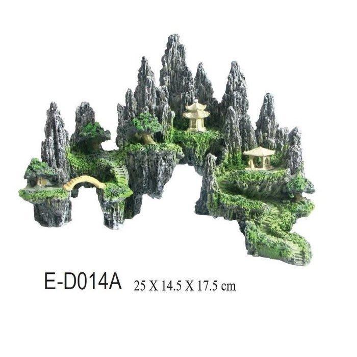 ISTA- E-D014A  飾品 仿真倒影假山造景裝飾 魚缸擺設 水族飾品