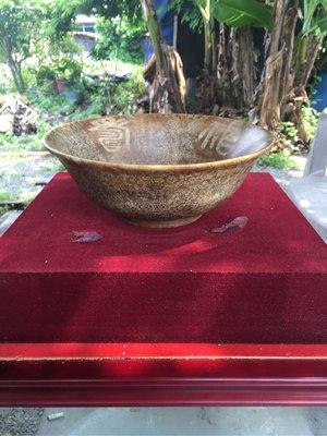 拼人氣,早期收藏,福壽花紋,白玉大碗公,碗圓直徑約23公分,高約9公分,重1180公克,落款道光年製。