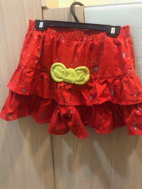 小花別針、【dailo】可愛橘紅色褲裙