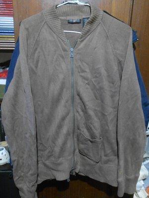 二手衣保存佳 RALPH LAUREN Polo Jeans 純棉針織外套 L 版型寬 雙頭拉鍊 材質輕保暖