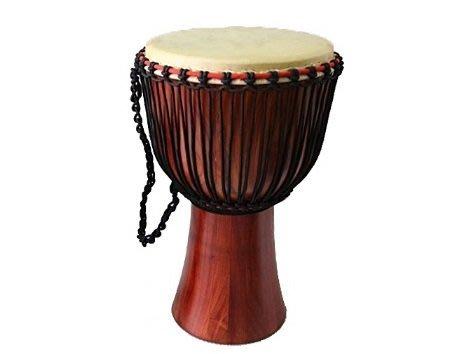【華邑樂器54731-3】12吋牛皮非洲鼓-樺木無雕刻 (鼓面30.5X高61cm Djembe Drum)