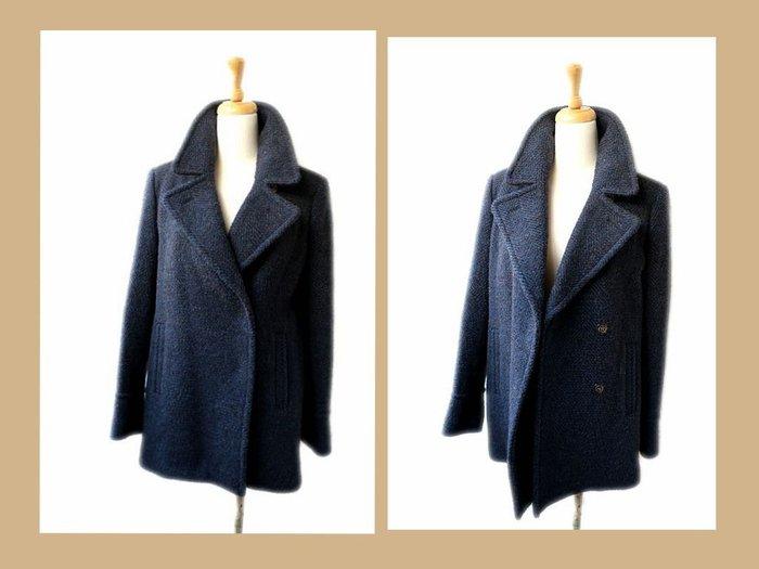 *Beauty*SEE BY CHLOE藍色羊毛呢短大衣外套 38號  VL 附吊牌