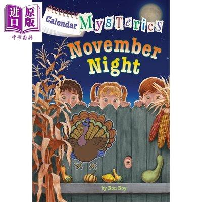月份的秘密:11月的夜晚 Calendar Mysteries #11 A to Z 姐妹篇 7~12歲 英文 兒童章節
