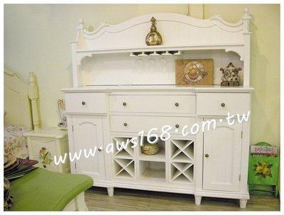 白色備餐櫃 餐邊櫃 廚櫃 復古風..白色.廚櫃
