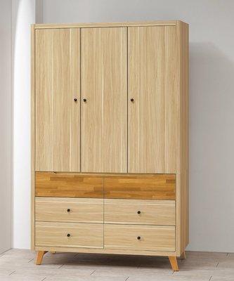 【南洋風休閒傢俱】精選時尚衣櫥 衣櫃 置物櫃 拉門櫃 造型櫃設計櫃-瑪莎栓木色4*7尺衣櫥 CY162-530