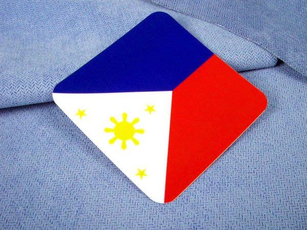 【國旗貼紙專賣店】菲律賓方形登機行李箱貼紙/抗UV防水/旅行箱/多國可收集訂製