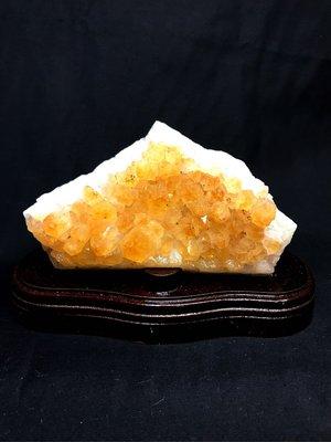 【收藏家】天然頂級黃晶片 黃水晶片 24k金色 極美小擺件 600g