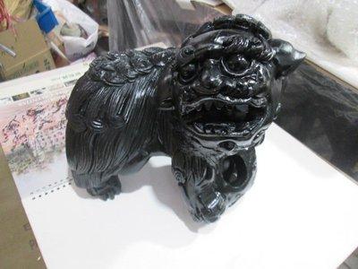 早期 古董木雕獅子