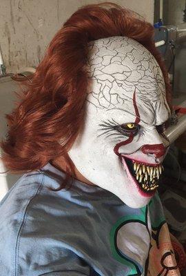 面具萬圣節恐怖小丑回魂面具Pennywise假面妝容joker頭套cos裝扮道具神奇悠悠