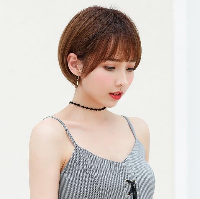 假髮女短髮修圓臉bobo髮型鎖骨發女網紅韓國波波頭甜美可愛短直發