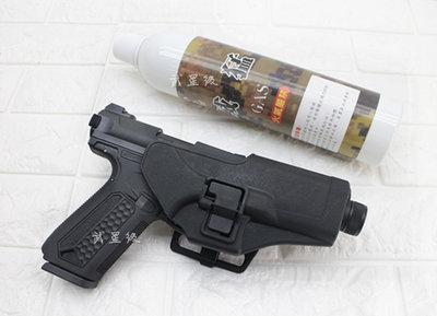 台南 武星級 Action Army AAP-01 瓦斯槍 黑 + 12KG 威猛瓦斯 + 槍套 ( GBB槍BB槍