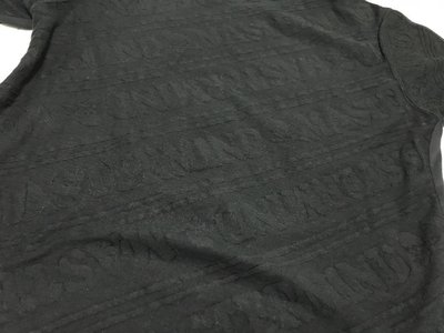 (二手) mastermind JAPAN MMJ 雙拼 字體 骷髏 壓紋 滿版 短T 黑色