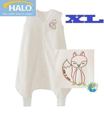 X.H. Baby【美國 HALO】SleepSack Early Walker 防踢被 背心 睡袋 秋冬刷毛 白色狐狸