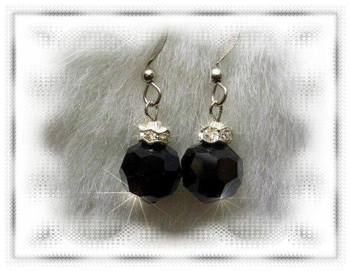 ※水晶玫瑰※ SWAROVSKI 10mm水晶珠 耳勾式耳環(DD328)~出清~三對免郵