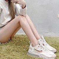 [RG專業代購]Nike WMAN Air Max 270 React 奶油玫瑰金配色女潮流穿搭鞋(+)