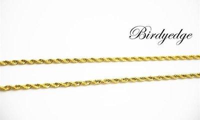 【Birdy Edge】壓花 麻花 特殊花色 訂製 品牌 金項鍊 金 金亮練 不退色過敏 品質