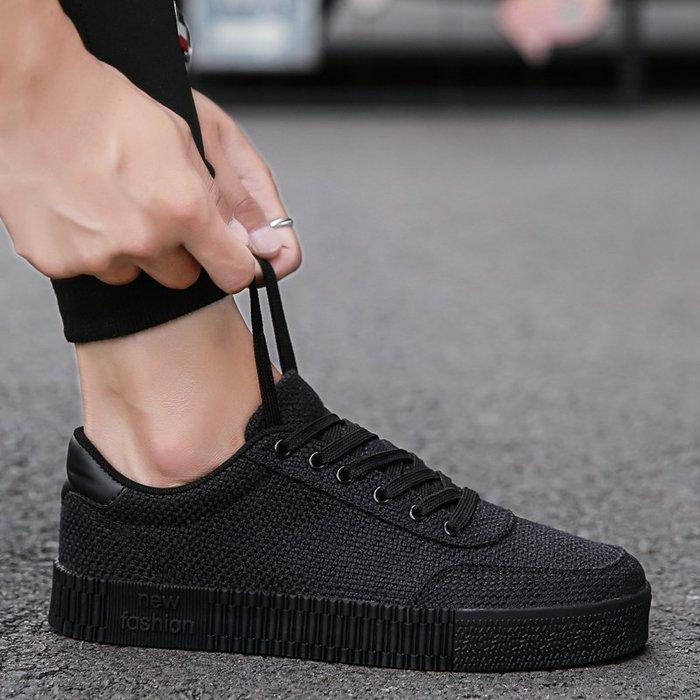 6Du spot~潮牌2020夏新款休閑鞋男士帆布鞋透氣低幫系帶板鞋工作布鞋男鞋子