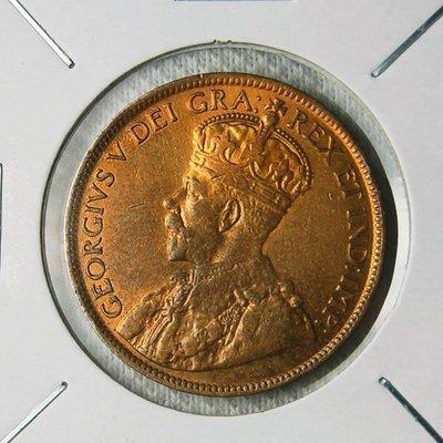 加拿大 (CANADA) 1918年 喬治五世 ONE CENT 銅幣 UNC【A1162】