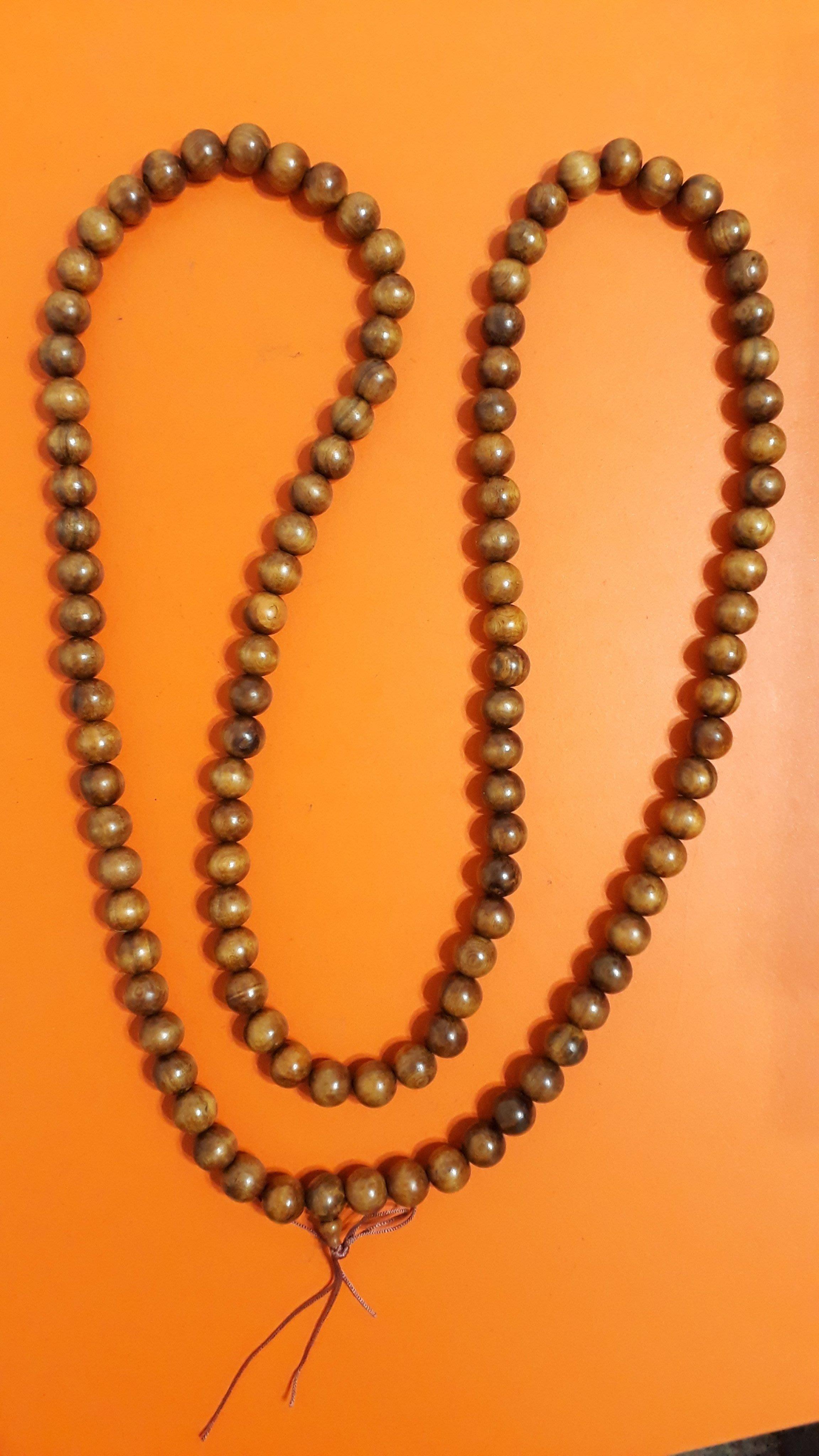 【九龍藝品】肖楠108顆佛珠 ~ 手珠約16mm,重量約237公克 【3】競標