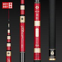 海迪28偏37調黑坑鯽魚竿 超輕超硬4.5/5.4米碳素釣魚竿手竿臺釣竿 如魚得水