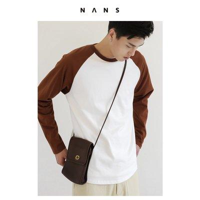 【NANS】重磅精棉撞色長袖衫 / CONTRAST LONG-SLEEVED - NS2E09