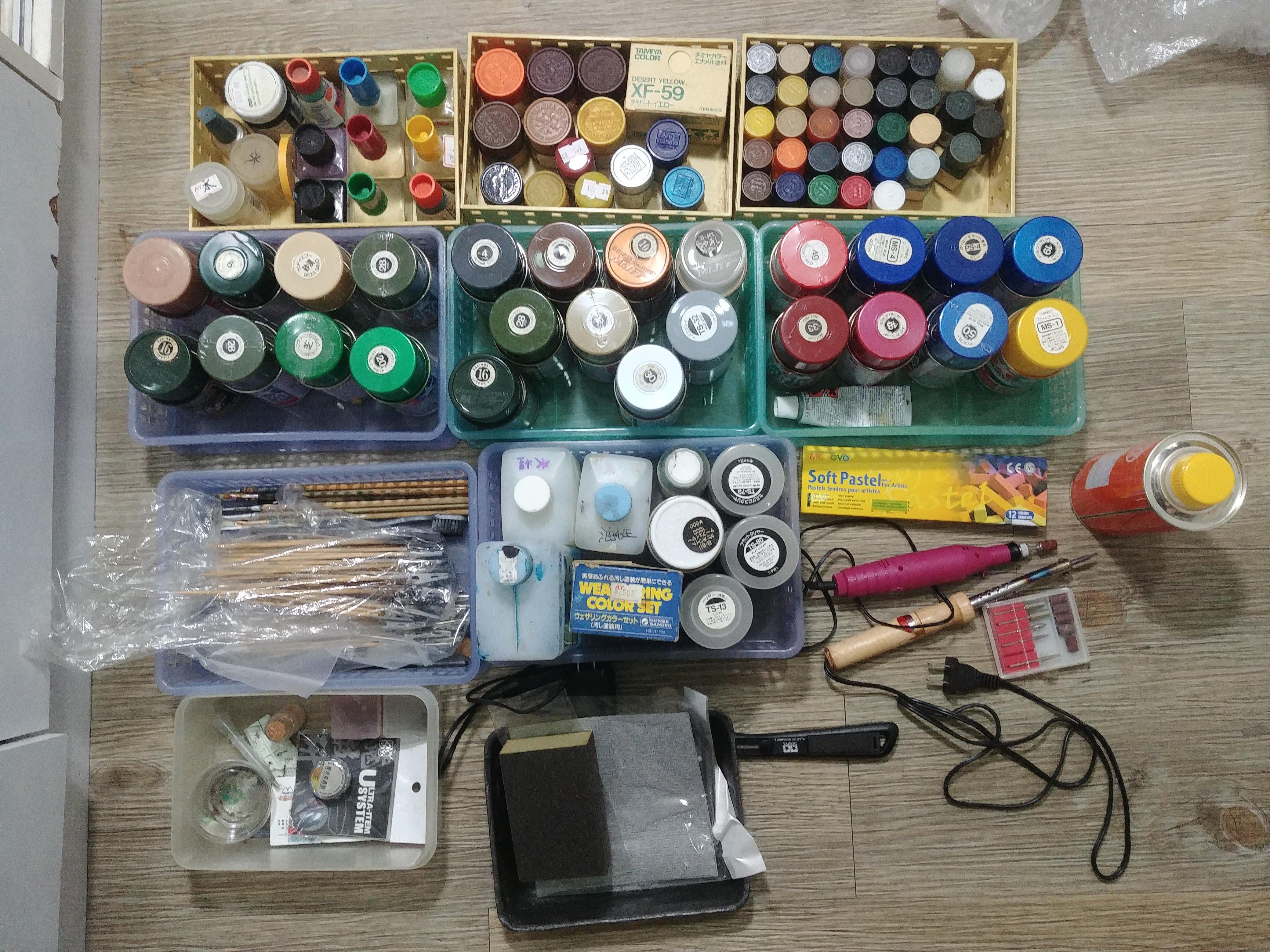 鋼彈 軍事模型 塗裝顏料器具