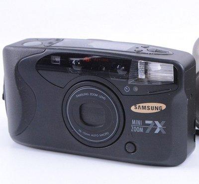 [瑕疵相機]SAMSUNG MINI ZOOM 7X底片相機 閃燈故障 使用CR123電池一顆 135底片