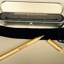 Supreme復古銅筆手工藝潮牌商務男士經典款青年純黃銅簽字筆銅筆