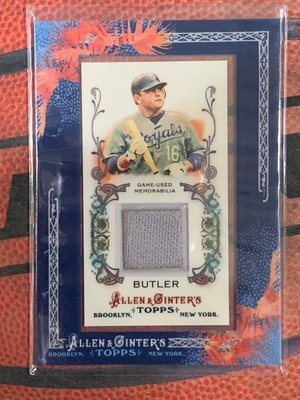 Topps Allen & Ginter's 堪薩斯皇家隊 Billy Butler Game Used 球衣卡