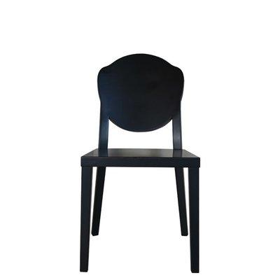 9019-1 黑色實木座椅
