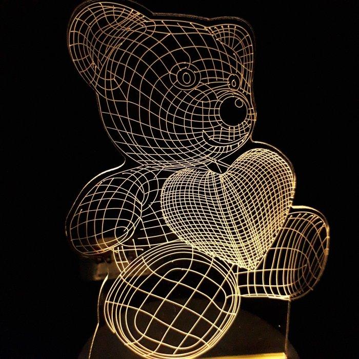 現貨 LED小夜燈 三光源-愛心熊