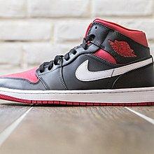 【紐約范特西】現貨 Nike Air JORDAN 1 MID BRED BG 黑紅 女鞋 籃球鞋 554725-020