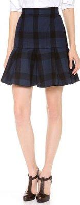 Black Check Short Flounce Skirt~sz 40
