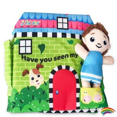 英文版 jollybaby布書Have you seem my Have you seem my puppy小狗寶寶在哪里?寶寶玩具益智早教觸摸撕不爛0-2歲枕