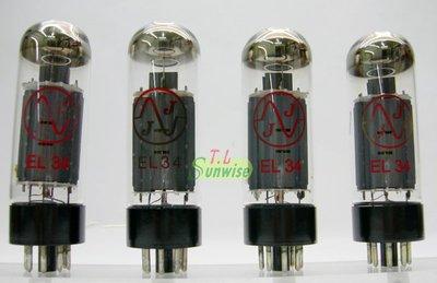 ---暫不出售--- EL34 ︽NO:3444 東歐 JJ EL34 ( 6CA7 ) 已配對 真空管 4支