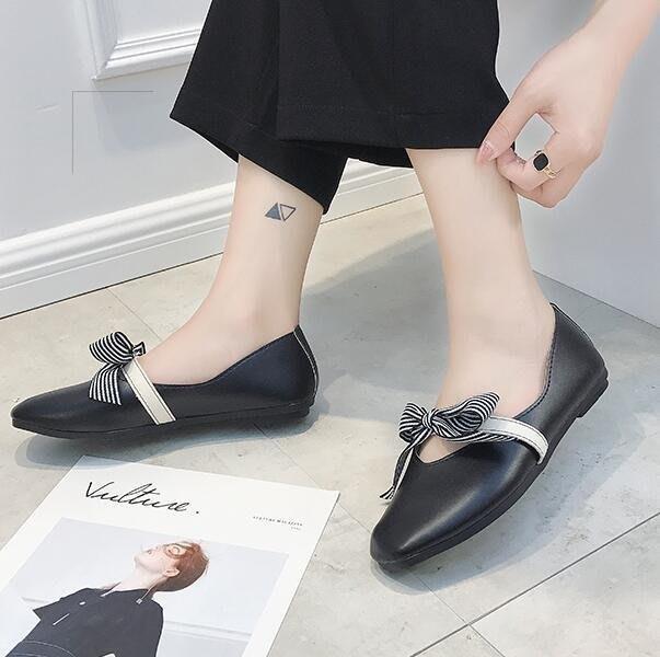 BELOCO 豆豆鞋-平底百搭韓版奶奶學生豆豆鞋淑女鞋夏BE655