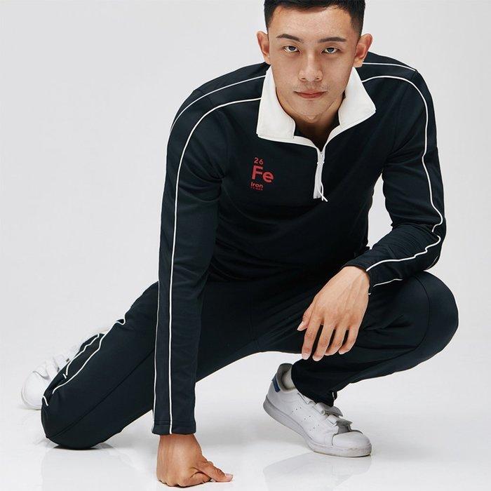 【OTOKO Men's Boutique】固制:白色立領健身衛衣/黑色(台灣獨家代理)